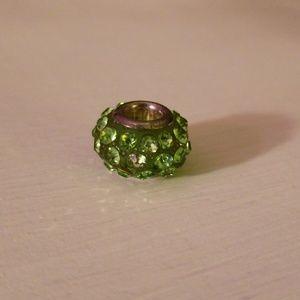 Jewelry - Green Rhinestone Charm for Bracelet